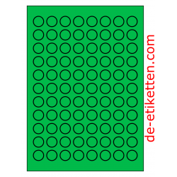 20 mm Runde 100 Blatt p. Karton GRÜN