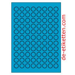 20 mm Runde 100 Blatt p. Karton BLAU