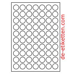 25 mm Runde 100 Blatt p. Karton