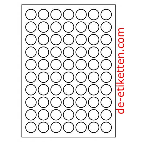 25 Mm Runde 100 Blatt P Karton Bestellnummer R25100 Viele Anwendungen