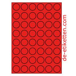 30 mm Runde 100 Blatt p. Karton ROT