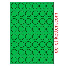 30 mm Runde 100 Blatt p. Karton GRÜN
