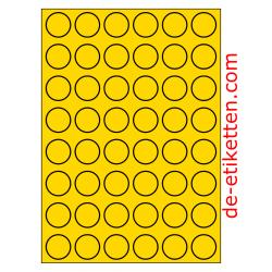 30 mm Runde 100 Blatt p. Karton GELB