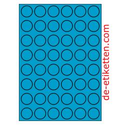 30 mm Runde 100 Blatt p. Karton BLAU