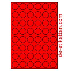30 mm Runde 100 Blatt p. Karton ROT FLUOR
