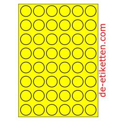 30 mm Runde 100 Blatt p. karton GELB FLUOR