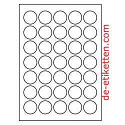 35 mm Runde 100 Blatt p. Karton