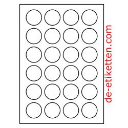 40 mm Runde 200 Blatt p. Karton