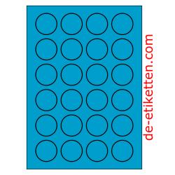 40 mm Runde 100 Blatt p. Karton BLAU
