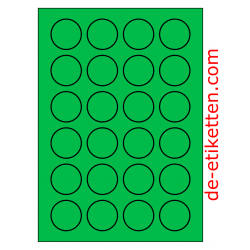 40 mm Runde 100 Blatt p. Karton GRÜN