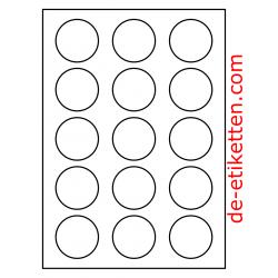 50 mm Runde 200 Blatt p. Karton