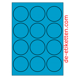 63 mm 100 Blatt p. Karton BLAU