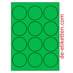 63 mm Runde 100 Blatt p. Karton GRÜN