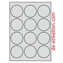 63 mm Runde 50 Blatt p. Karton ALUMINIUM