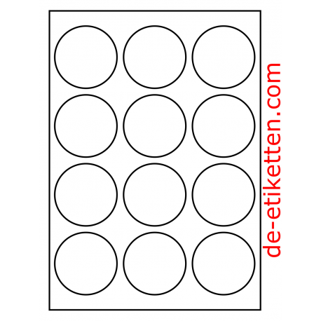 63 mm Runde 100 Blatt p. Karton Glossy