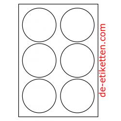 90 mm Runde 100 Blatt p. Karton