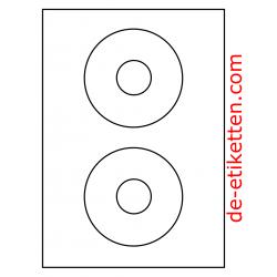 114 mm CD Etikett 200 Blatt p. Karton