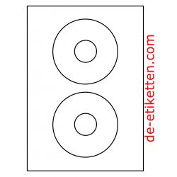 118 mm Runde CD Etikett 100 Blatt p. Karton Deckfarben