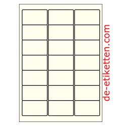 63 x 38 mm 100 Blatt p. Karton Elfenbein