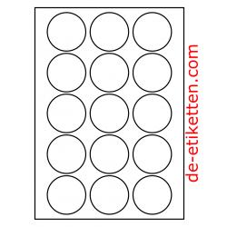 55 mm Runde 100 Blatt p. Karton