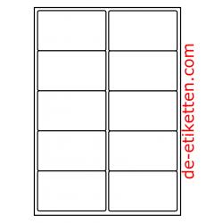 99 x 57 mm 200 Blatt p. Karton