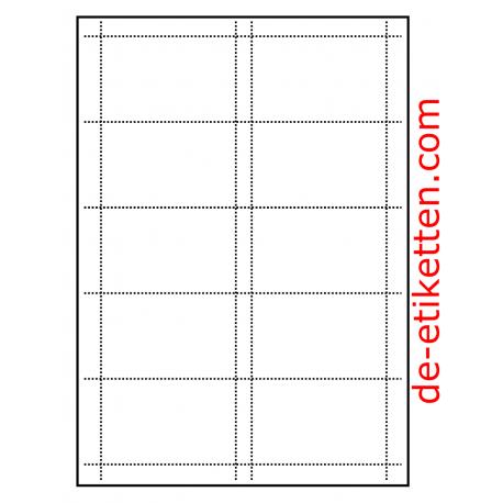 Visitenkarte 85 x 54 mm 100 Blatt p. Karton