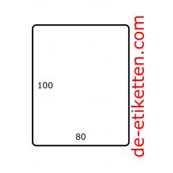 80 x 100 mm Papier Glanz 1.750 pro rolle