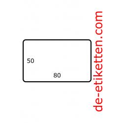 80 x 50 mm Papier Glanz 2.500 pro rolle