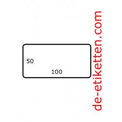 100 mm x 50 mm Papier Glanz 2.500 pro rolle
