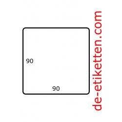 90 x 90 mm 1.750 pro rolle Papier Glanz