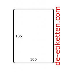 100 x 135 mm 1.000 pro rolle Papier Glanz