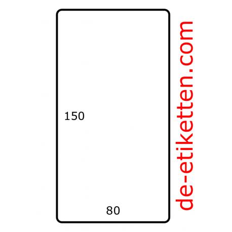 Rol etiketten 80 x 150 mm 500 per rol Polyjet Mat