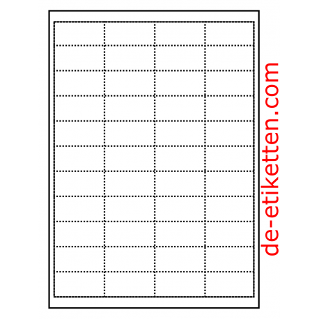 50 x 25 mm Regal-Karten 100 Blatt . Karton 44 Karten p. Blatt