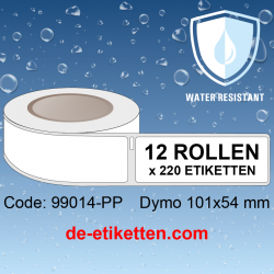 KUNSTSTOFF THERMISCHES ETIKET 99014-PP Dymo Labels 101x54 mm