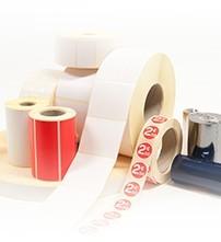 Blanko-Etiketten auf Rolle